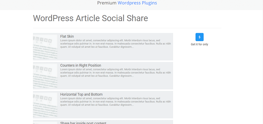 wordpress article social share plugin, besst free and paid WP theme