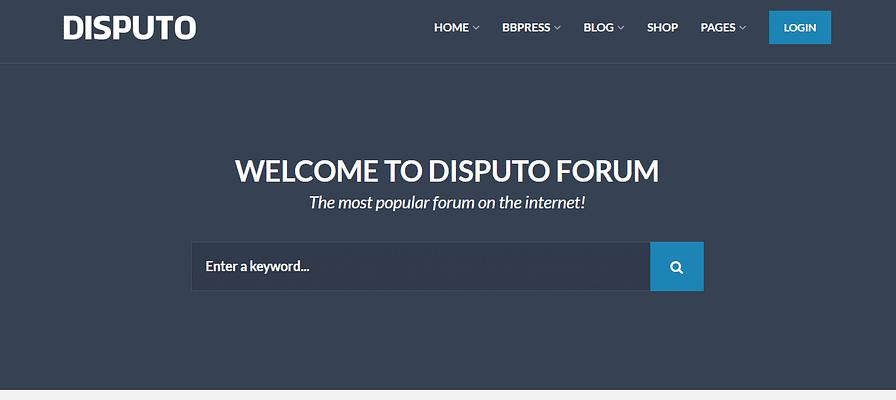 disputo theme, WordPress Forum Themes