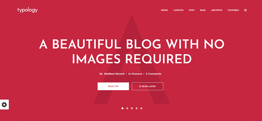 typolology theme, best free and paid theme
