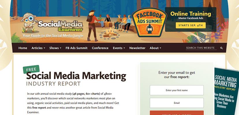 Social Media Examiner blog, best free blog