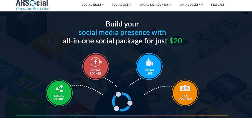 ARsocial plugin, best free and paid WP plugin