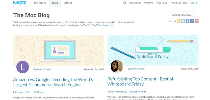 moz blog, Marketing Blogs