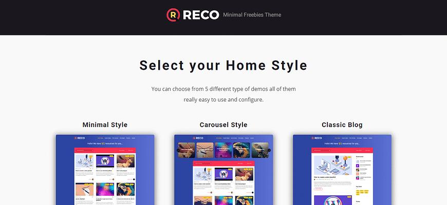 Reco theme, Selling WordPress Magazine Themes