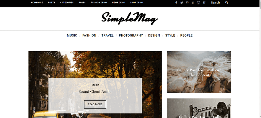 simplemag theme, best paid and free theme