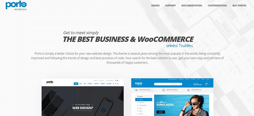 Portfolio WordPress Themes, porto theme