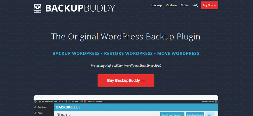 backupbuddy plugin. wordpress database backup plugin