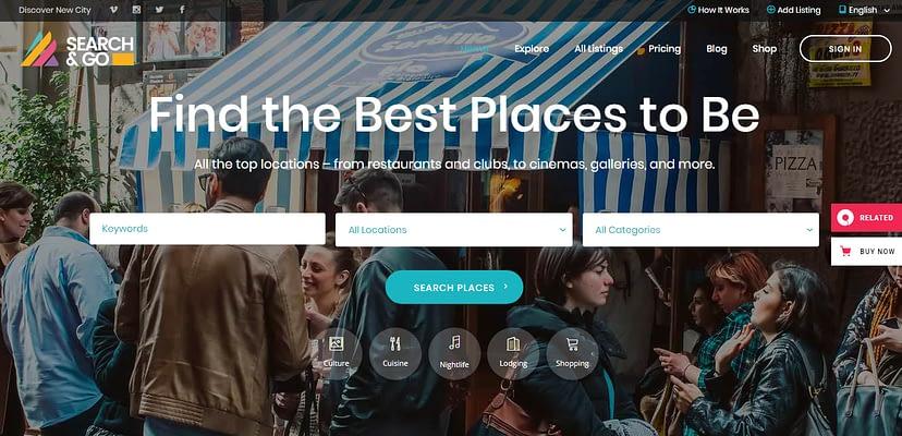 search&go theme, Directory WordPress Themes