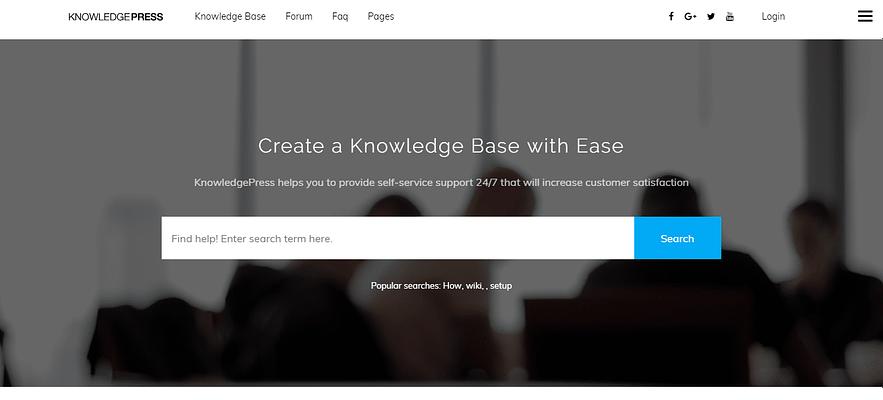 knowledge press theme, creative Q&A theme