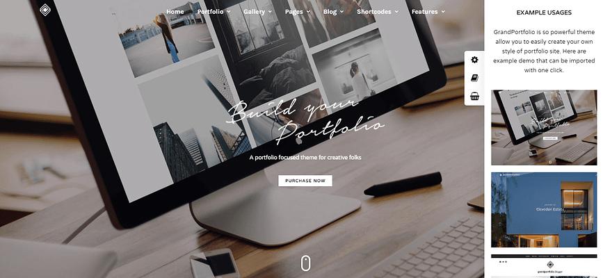 portfolio theme ideas, grand portfolio theme