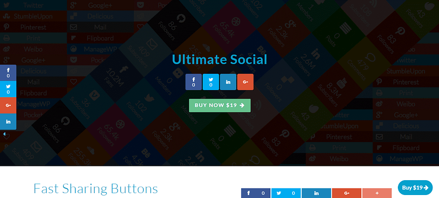 ultimate social plugin, best paid and free WP plugin