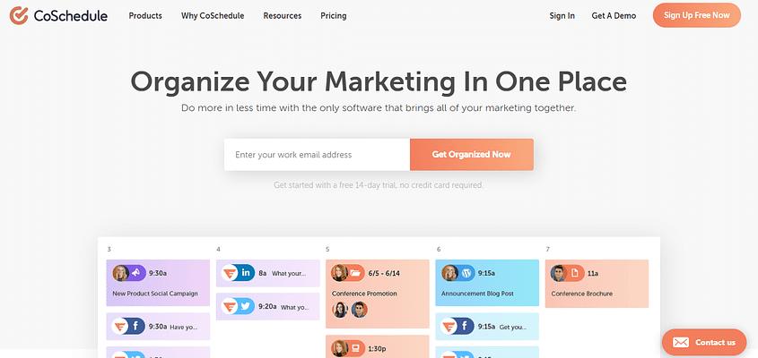 coschedule blog, Marketing Blogs