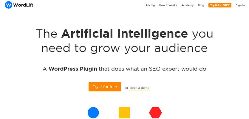 WordLift, Artificial intelligence platform