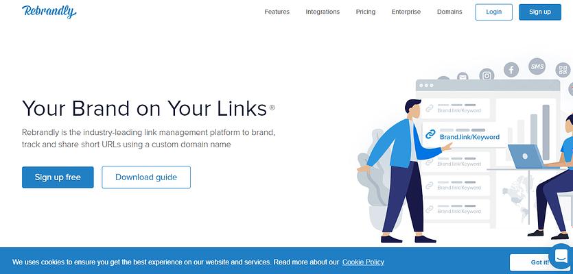 rebrandly webiste, best free and paid website