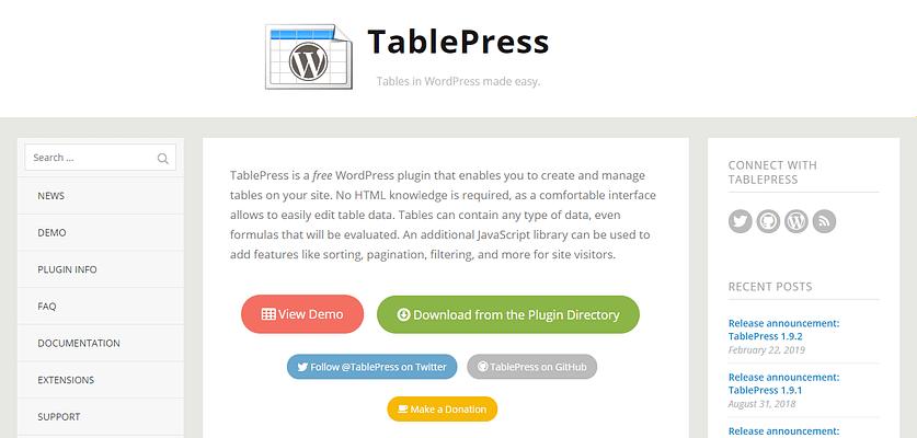 tablepress plugin, Digital Marketing WordPress Plugins