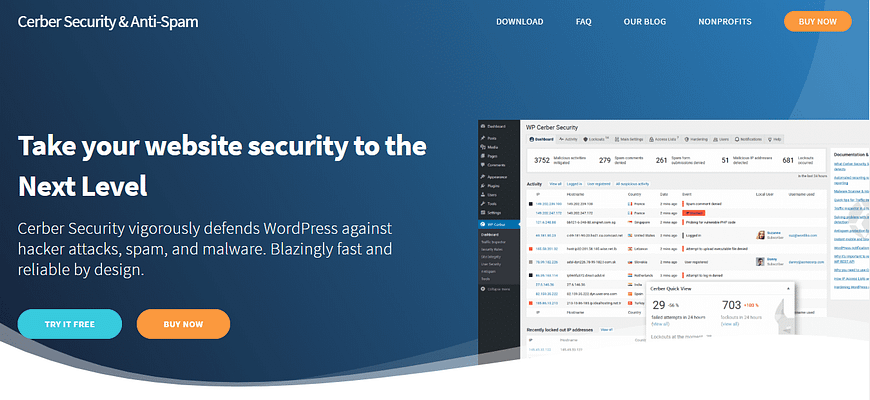 cerber security and anti-spam plugin, WP security services