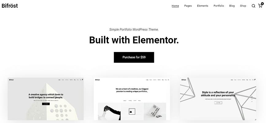 Portfolio WordPress Themes, bifrost theme